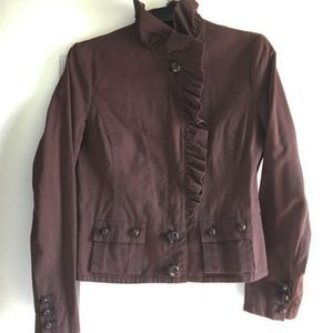 Anthropologie Stylish Elevenses Jacket in Brown